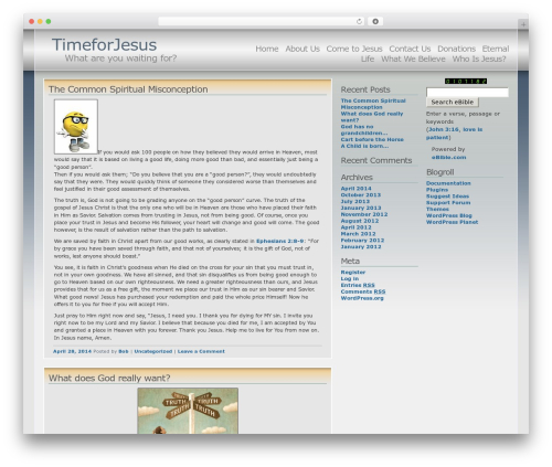 Andreas04 WordPress website template - timeforjesus.org