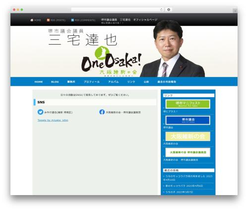 AppleX WordPress page template - tatu-m.com