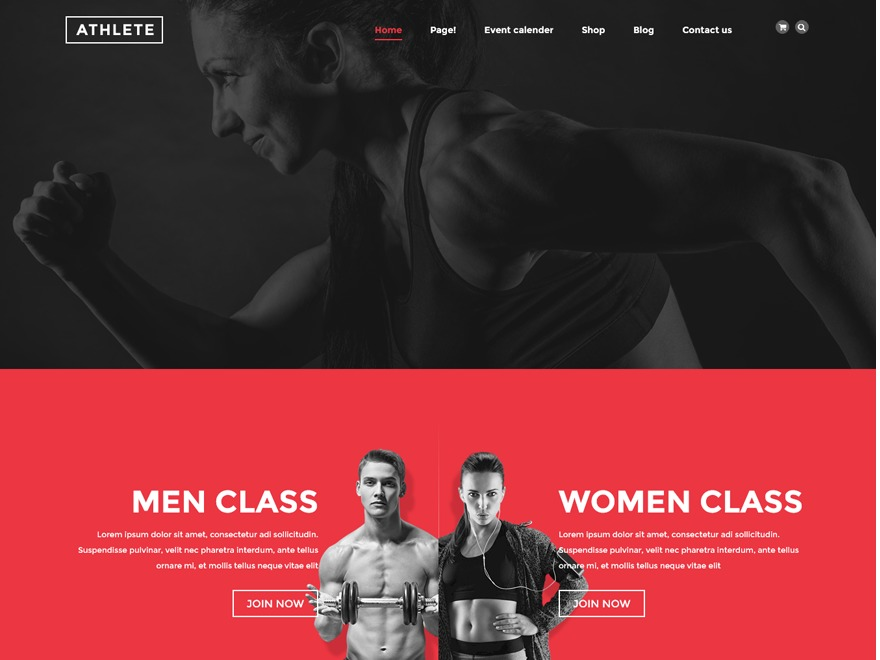 Athlete Child theme WordPress