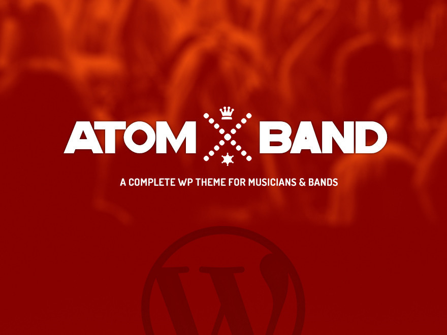 Atom Band WordPress template for photographers