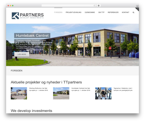 Avada WordPress template - ttpartners.dk