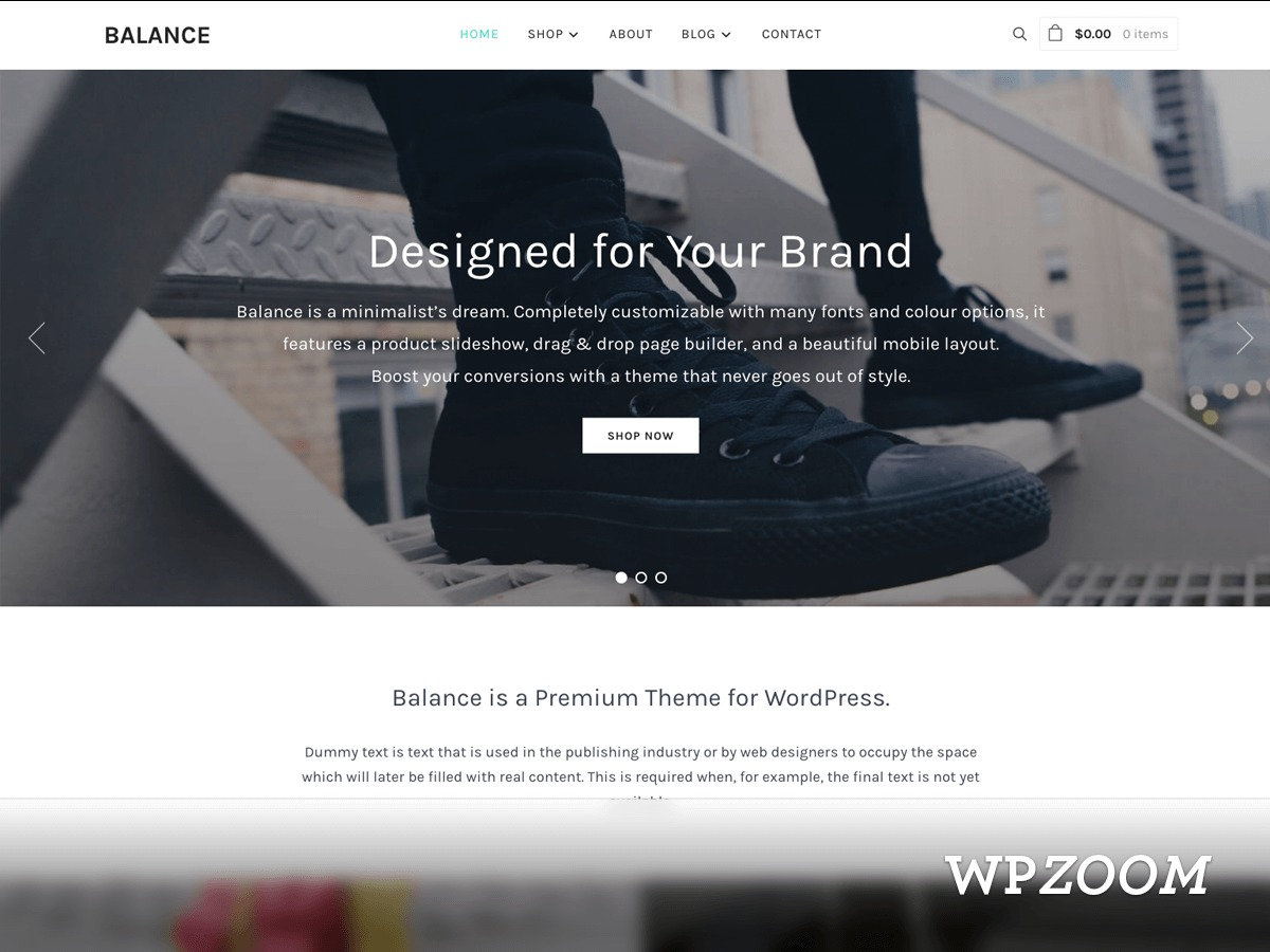 Balance WordPress shopping theme