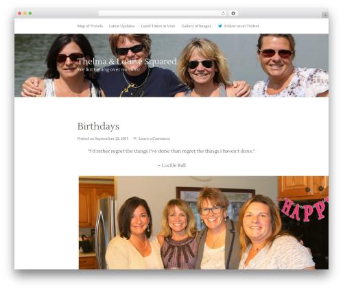 Best WordPress template Genesis - thelmaandlouisesquared.com
