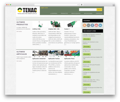 Best WordPress theme Yasmin - tenagsa.com