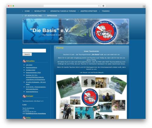 Blue Server WordPress theme - tauchen-leer.de