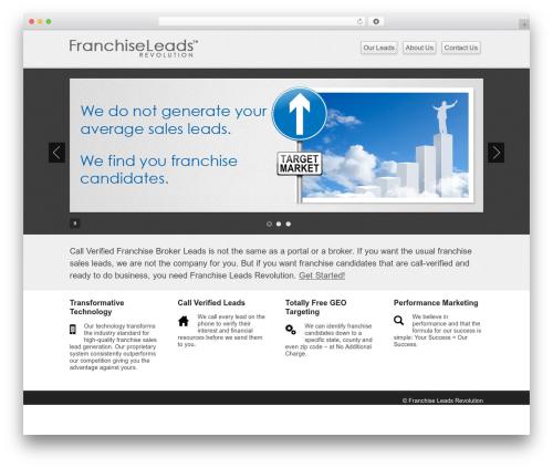 Business lite company WordPress theme - franchiseleadsrevolution.com