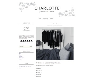 Charlotte WordPress blog template