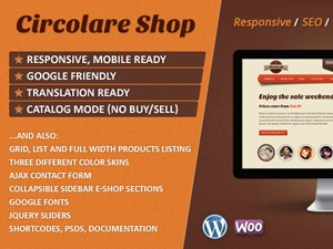 Circolare WordPress shopping theme