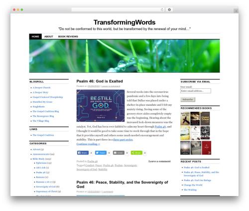 Coraline WordPress website template - transformingwords.org/wordpress