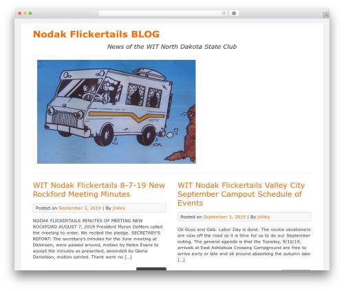 DarkOrange best free WordPress theme - flickertales.wit-nodak-flickertails.org