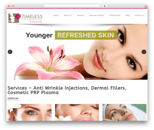 Dictate best WordPress theme - timelessclinic.com.au