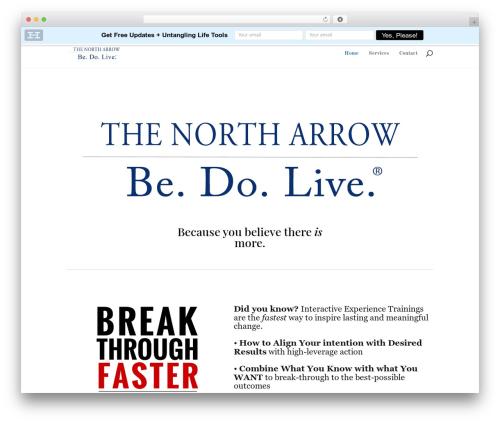 Divi premium WordPress theme - thenortharrow.com