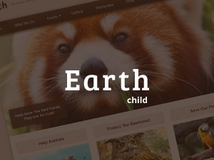 Earth Child Theme WordPress page template