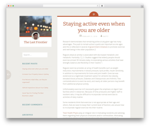 Fictive WordPress page template - thelastfrontier.com.au