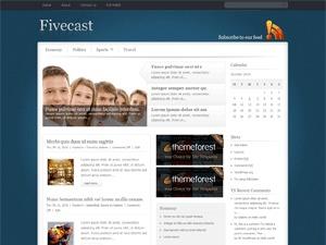 Fivecast3 WordPress news template