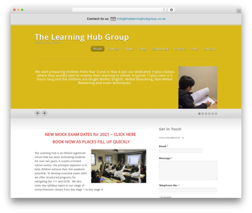 Inspire theme WordPress - thelearninghubgroup.co.uk