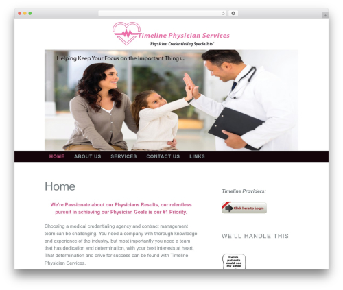 Madison WordPress template for business - timelinephysicianservices.com