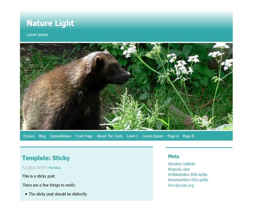 Nature Light top WordPress theme