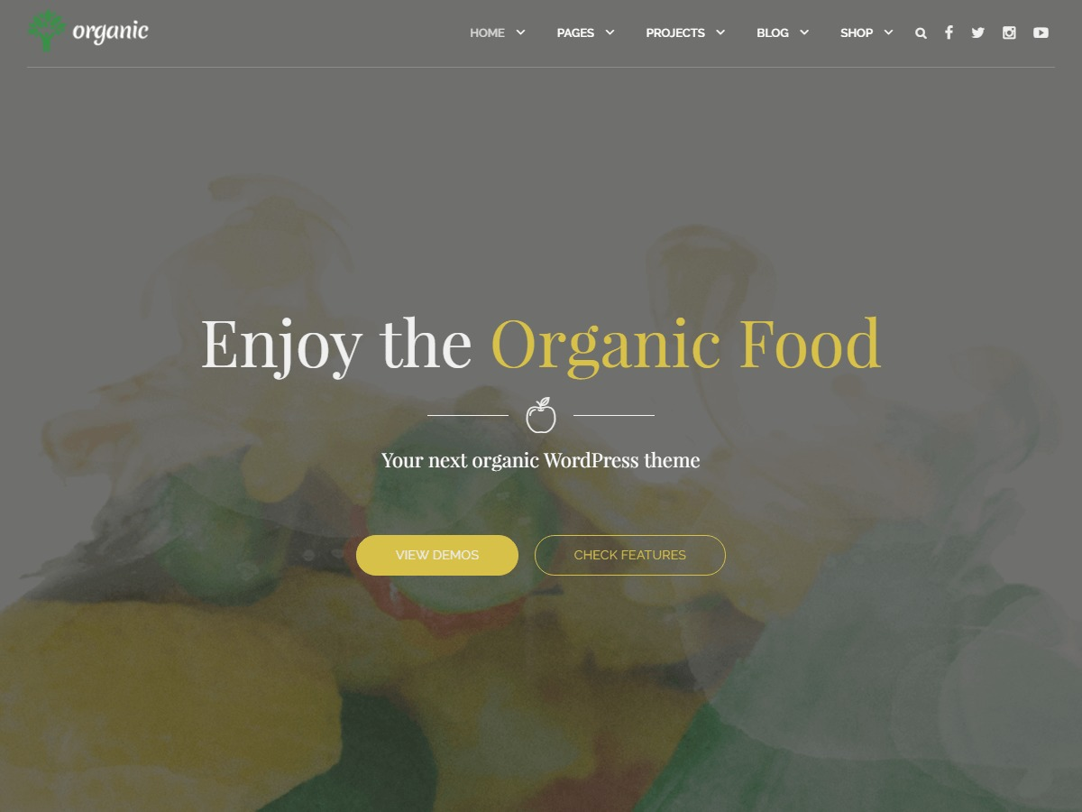 Organic Food food WordPress theme