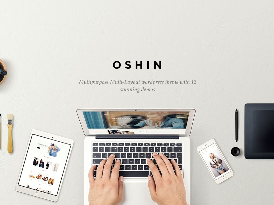 Oshin (shared on wplocker.com) WordPress theme