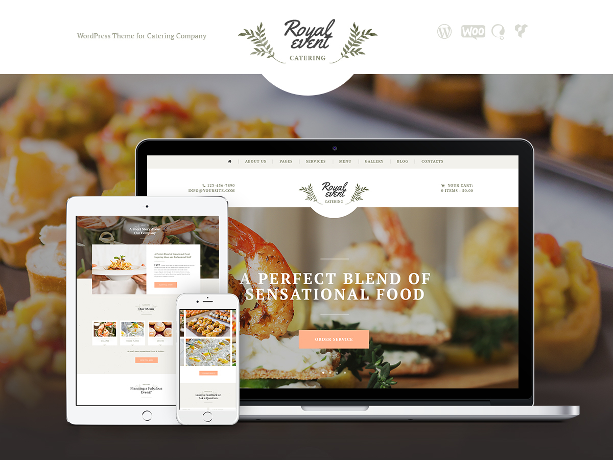 Royal Event WordPress website template