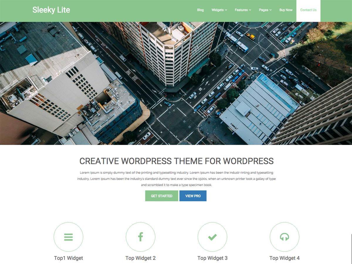 Sleeky best free WordPress theme