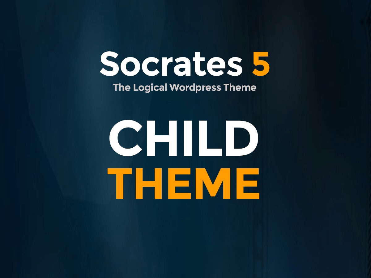 Socrates 5 Child premium WordPress theme