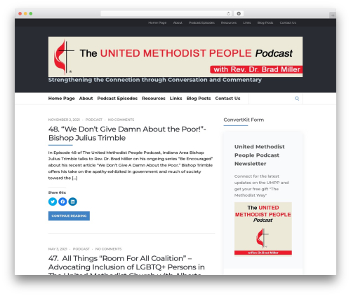 Socrates v5 top WordPress theme - unitedmethodistpodcast.com