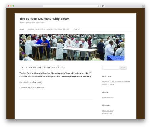 Twenty Twelve best free WordPress theme - thelondonshow.org