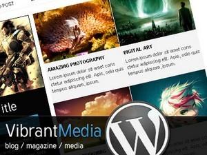 Vibrant Media WordPress blog theme