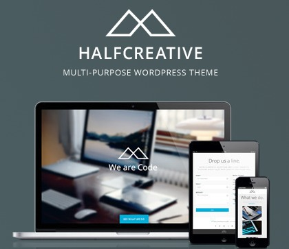 WordPress template Halfcreative (shared on themelock.com)