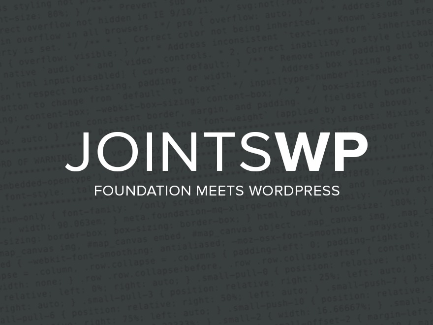 WordPress website template JointsWP-CSS