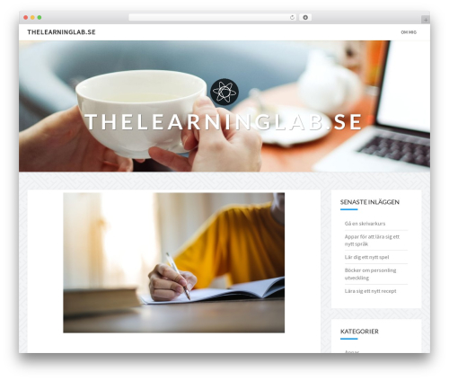 WordPress website template Nisarg - thelearninglab.se