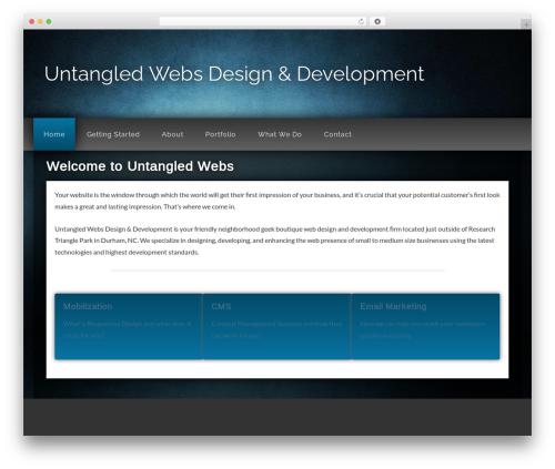 WP template Genesis Sandbox - untangledwebs.net