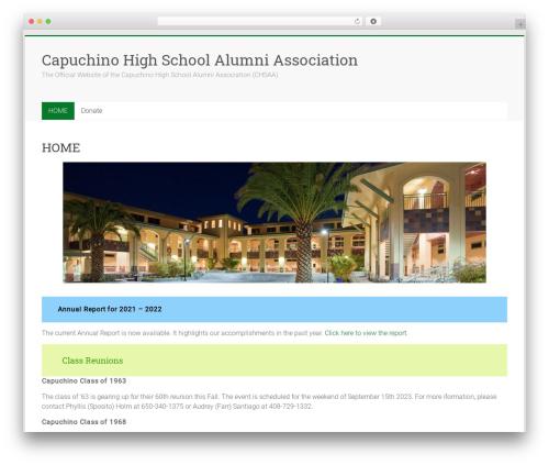 Accelerate free WordPress theme - capuchinohighschoolalumni.com