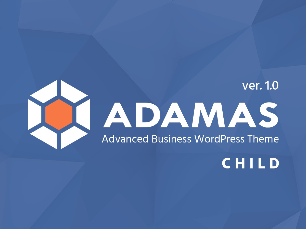 Adamas Child WordPress template