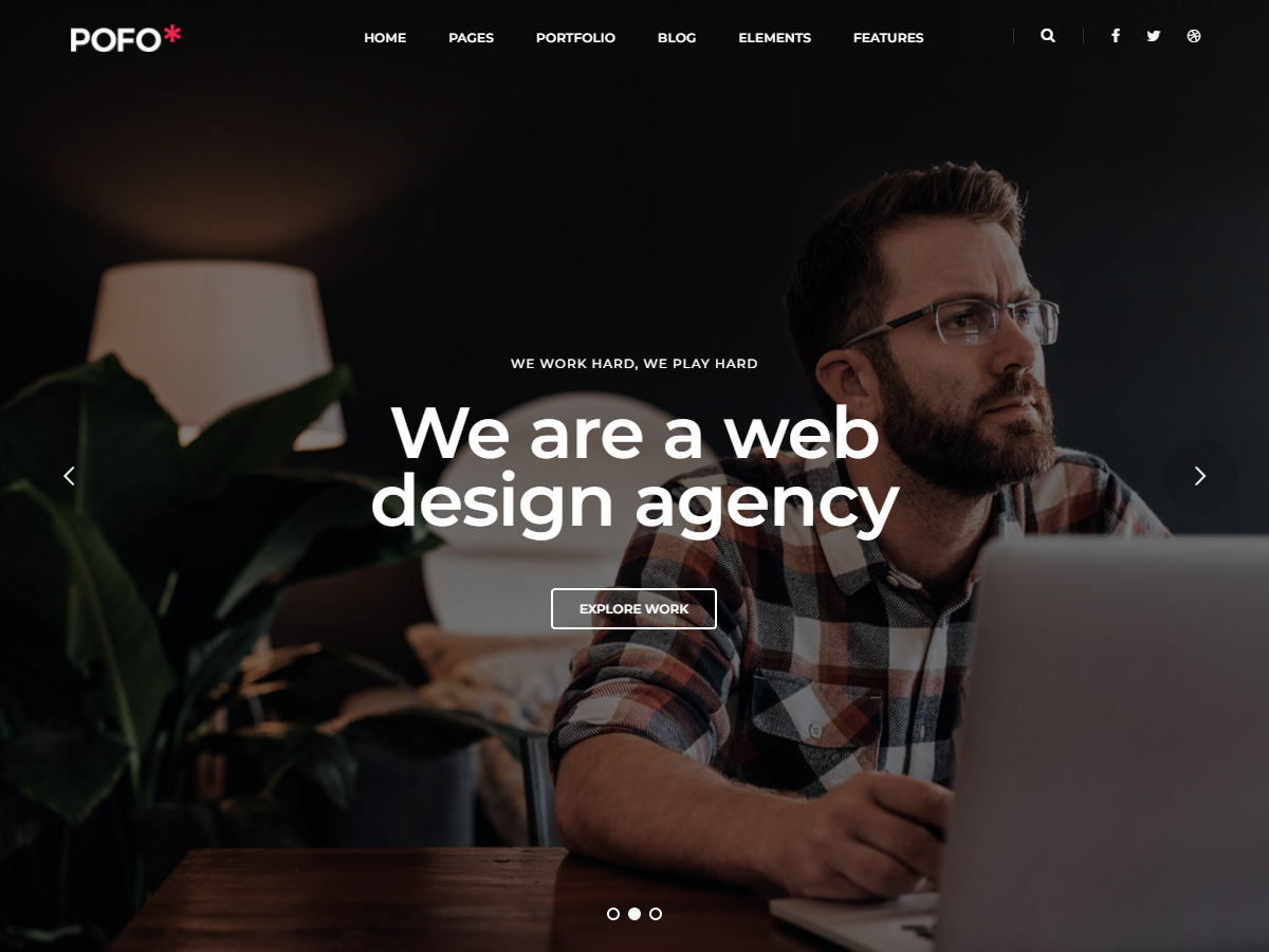 Best WordPress template Pofo Child