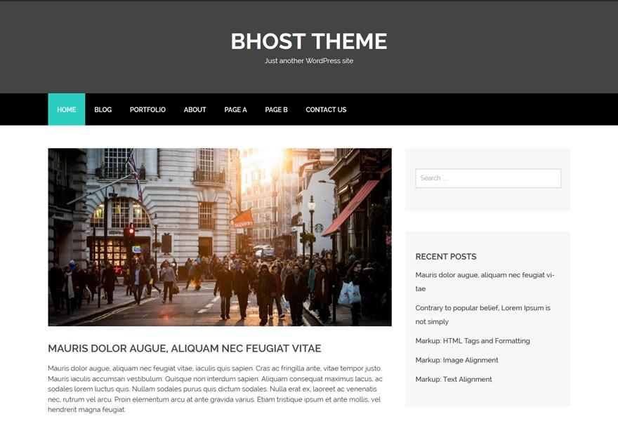 bhost-child theme WordPress