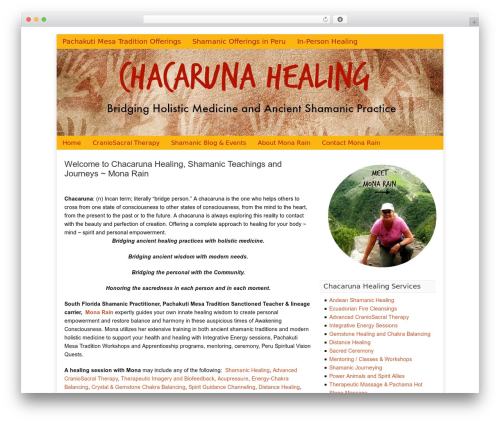 Catalyst theme WordPress - chacarunahealing.com