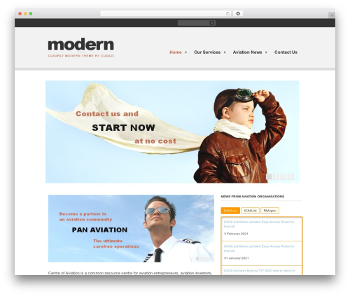 Clearly Modern WordPress template - centre-of-aviation.com