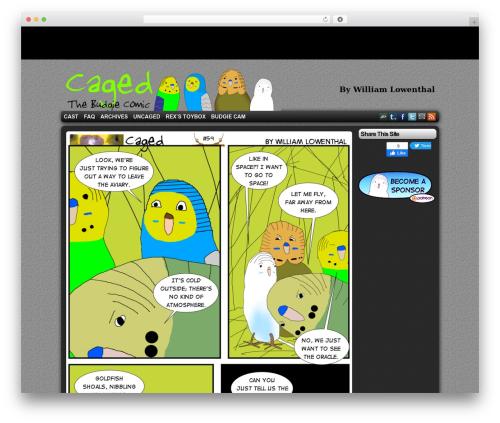 ComicPress WordPress free download - cagedcomic.com