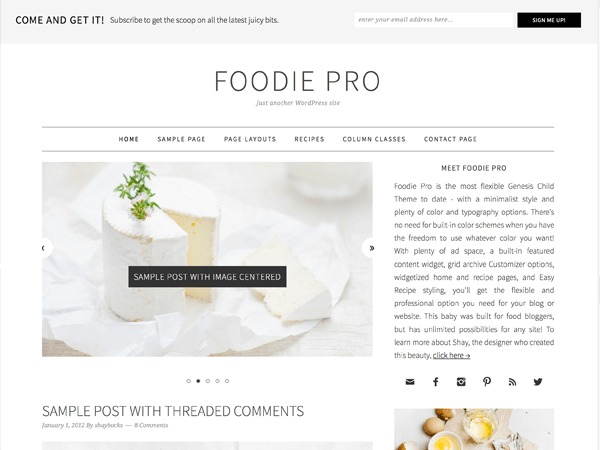 Foodie Pro - TopBestBuzz.com Theme food WordPress theme