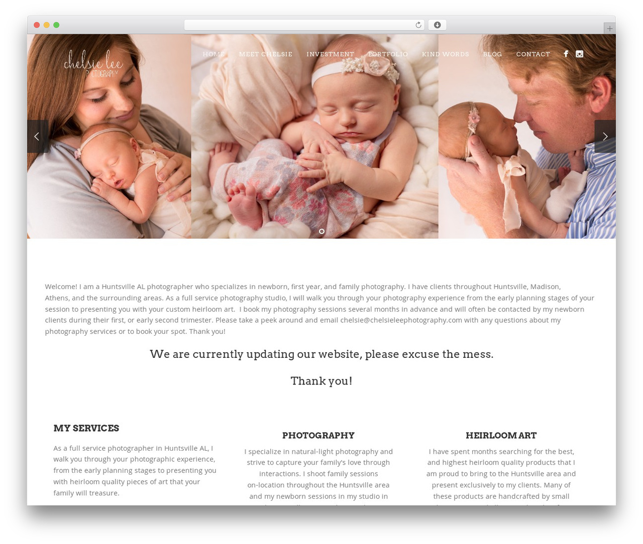 Story photography WordPress theme by Pexeto - chelsieleephotography com