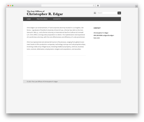 Twenty Twelve free WP theme - cedgarlaw.com