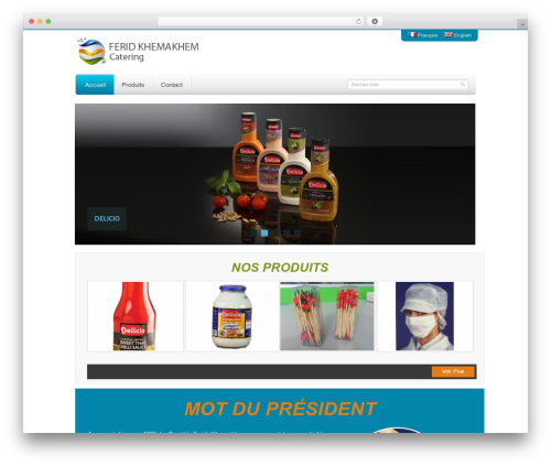Mazine top WordPress theme - catering.com.tn
