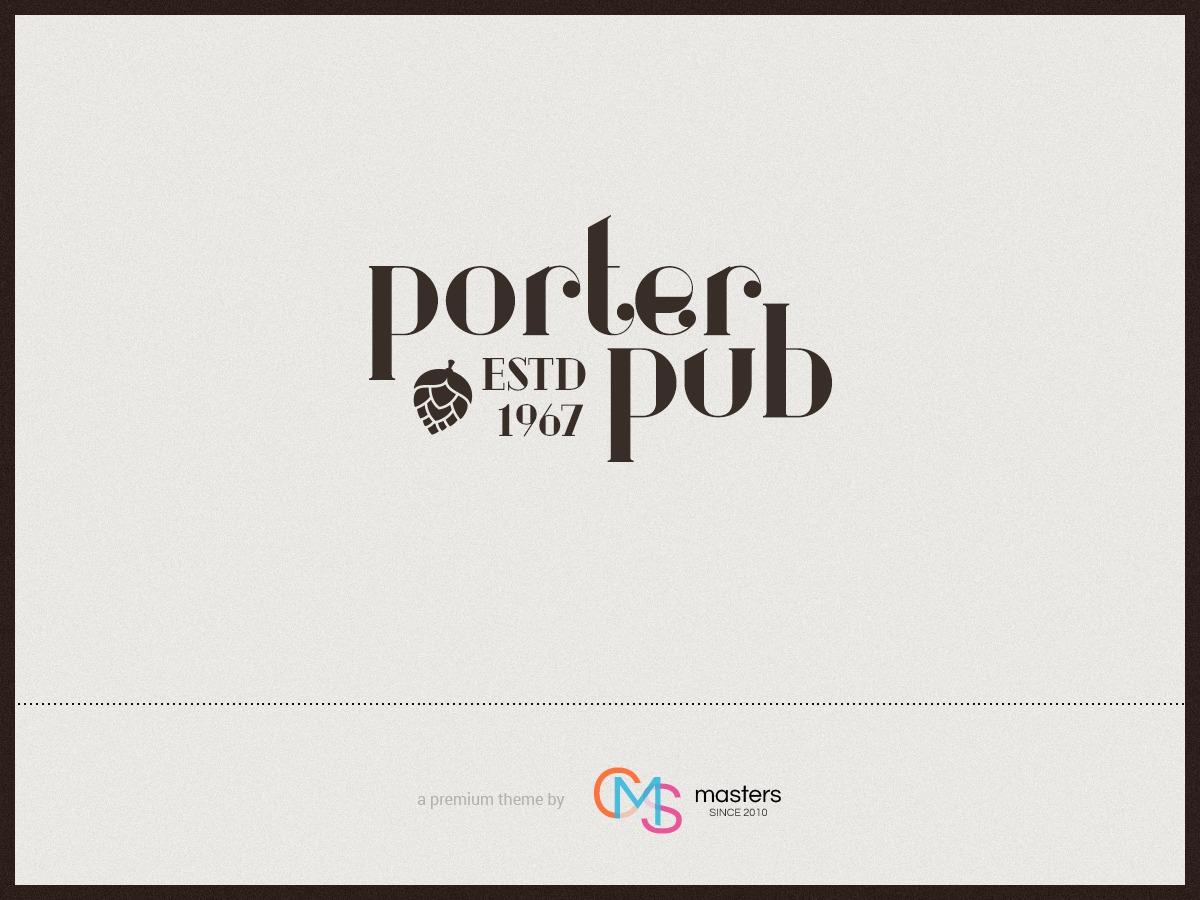 Porter Pub WordPress portfolio theme