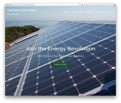Sydney company WordPress theme - cascadecoastsolar.com