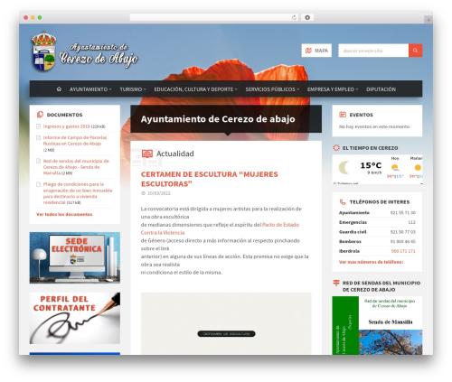 TownPress WordPress template - cerezodeabajo.com