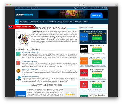 Best WordPress template Jarida - casinowinners.gr