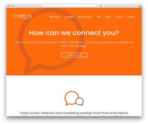 bizzy theme WordPress - carltonprmarketing.com